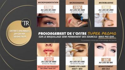 Offres Promotionnelles sur le Maquillage Semi Permanent des Sourcils